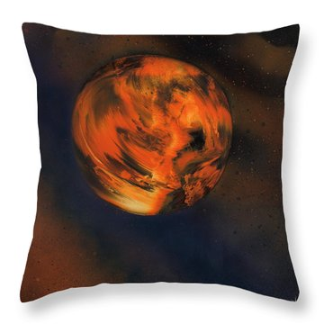 Orange One Throw Pillow