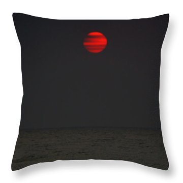 Orange Onyx Sunrise Throw Pillow