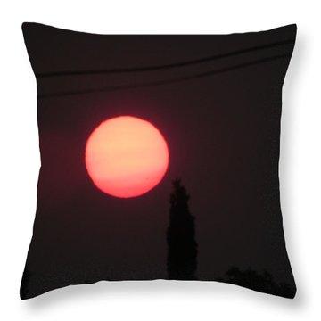 Orange Org Throw Pillow by Bonnie Muir