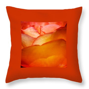 Orange Passion Throw Pillow