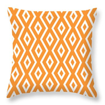 Peach Pattern Throw Pillow