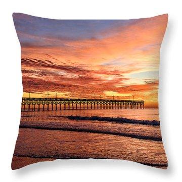 Orange Pier Throw Pillow