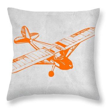 Orange Plane 2 Throw Pillow by Naxart Studio