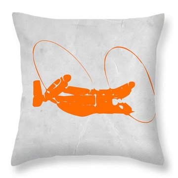 Orange Plane Throw Pillow