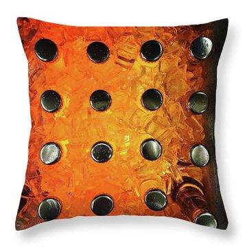 Orange Pop! #orange #pop #sodapop Throw Pillow