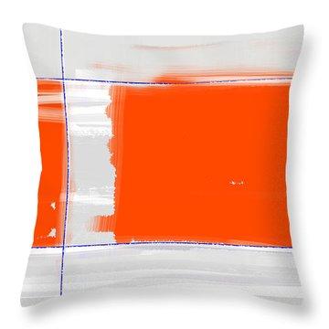 Orange Rectangle Throw Pillow