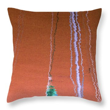 Throw Pillow featuring the photograph Orange Reflection On Water by Emanuel Tanjala