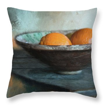 Throw Pillow featuring the photograph Orange by Robin-Lee Vieira