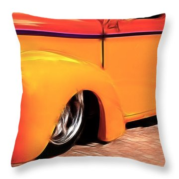 Orange Rush - 1941 Willy's Coupe Throw Pillow