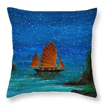 Orange Sail Throw Pillow