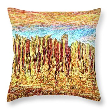 Orange Sky Cliffs - Colorado Throw Pillow