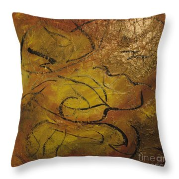 Orange Souffle Throw Pillow