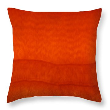 Orange Stone 3 Throw Pillow