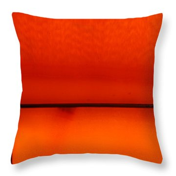 Orange Stone 4 Throw Pillow