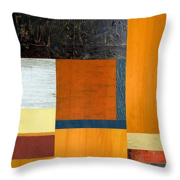 Throw Pillow featuring the painting Orange Study With Compliments 2.0 by Michelle Calkins