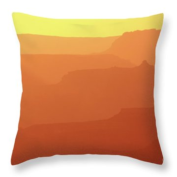 Orange Sunset At Grand Canyon Throw Pillow by RicardMN Photography