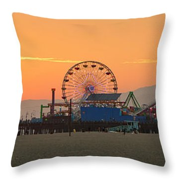 Orange Sunset - Panorama Throw Pillow