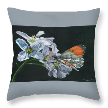 Orange Tip  Throw Pillow