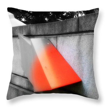 Orange Tipped Arrow Throw Pillow
