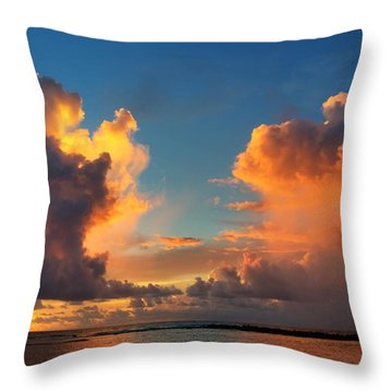 Orange To The Left And To The Right Throw Pillow
