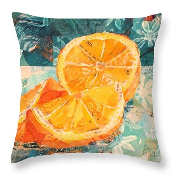 Orange You Glad? Throw Pillow