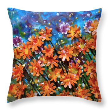Amazing Orange Throw Pillow