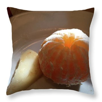 Orangepear Throw Pillow