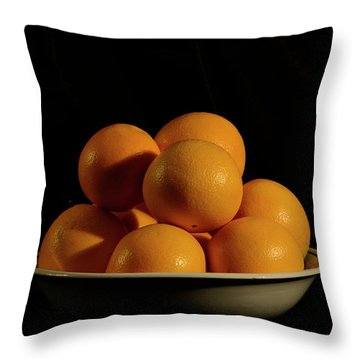 Throw Pillow featuring the photograph Oranges by Angie Tirado