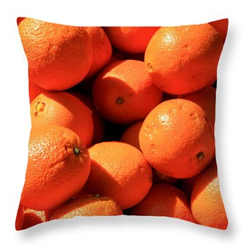 Oranges Throw Pillow by David Dunham