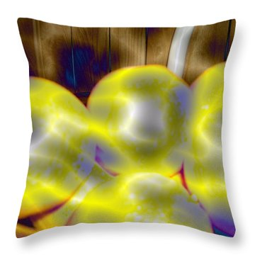 Throw Pillow featuring the photograph Oranges In A Basket by Skyler Tipton