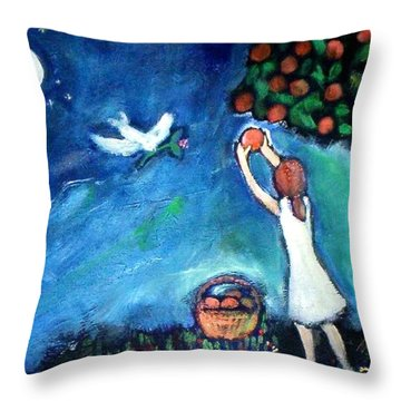 Oranges Song Throw Pillow
