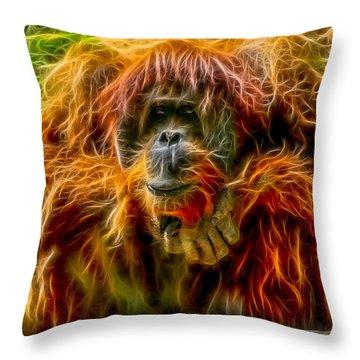 Orangutan Inspiration Throw Pillow