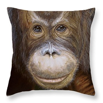 Orangutan Throw Pillow