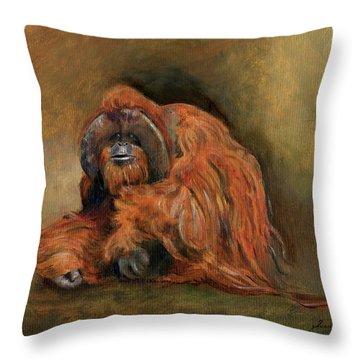 Orangutan Throw Pillows