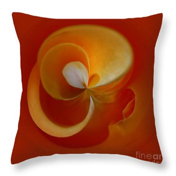 Orb 3 Throw Pillow by Elena Nosyreva