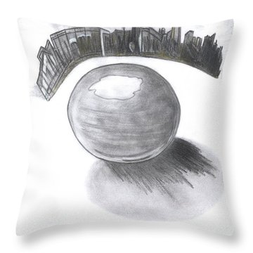 Orb Landing Throw Pillow