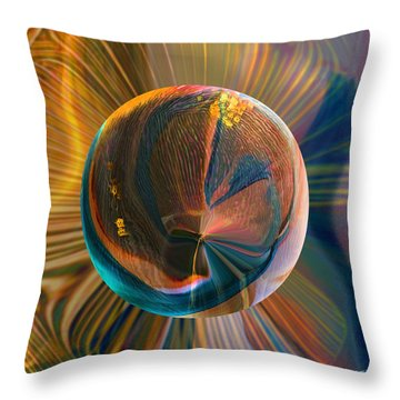 Throw Pillow featuring the painting Orbing Good Vibrations by Robin Moline