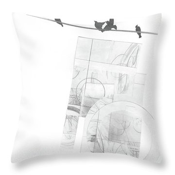 Orbit No. 3 Throw Pillow