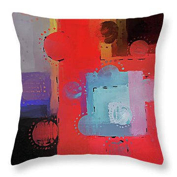 Throw Pillow featuring the mixed media Orbs by Eduardo Tavares