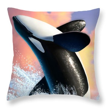 Whale Throw Pillows