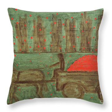Orchard Throw Pillow by Patrick J Murphy