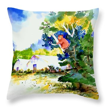 Orchard Springs Bear Throw Pillow