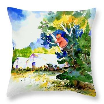 Orchard Springs Bear Throw Pillow