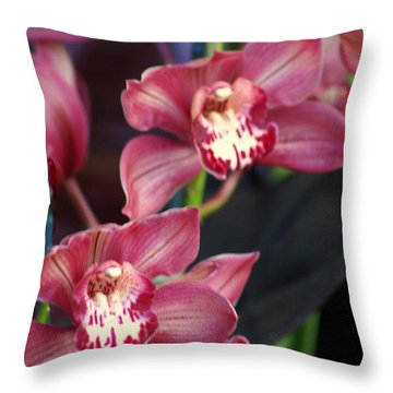 Orchid 14 Throw Pillow by Marty Koch