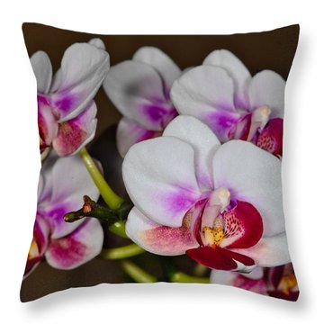 Orchid 306 Throw Pillow