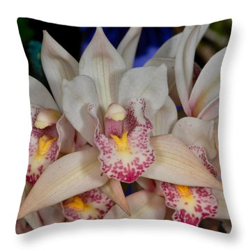 Orchid 348 Throw Pillow