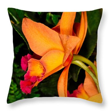 Orchid 355 Throw Pillow