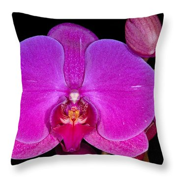 Orchid 424 Throw Pillow