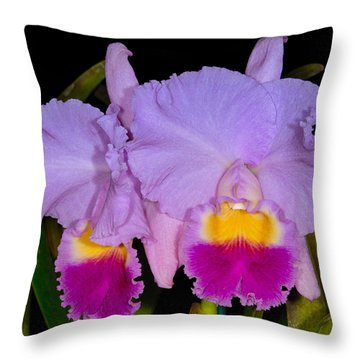 Orchid 428 Throw Pillow
