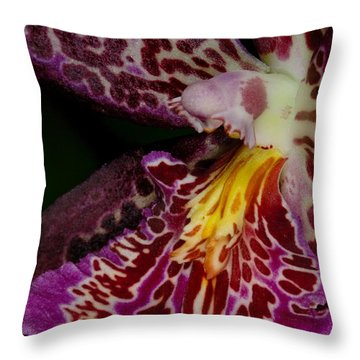 Orchid 459 Throw Pillow